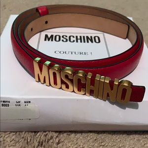 Authentic red Moschino belt